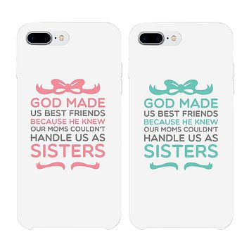 God Made Us Best Friend Matching White BFF Phone Cases