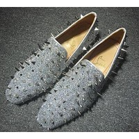 Christian Louboutin CL Loafer Style #2385 Sneakers Fashion Shoes Online