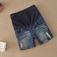 Fashion maternity jeans Bull-puncher knickers  trousers clothes for pregnant women pregnancy maternity knee length pants LJL-303