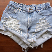 Size 4/6 Levi's High Waisted Jean Shorts