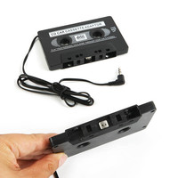 AUDIO CAR CASSETTE TAPE ADAPTER CONVERTER 3.5 MM FOR IPHONE IPOD MP3 AUX CD