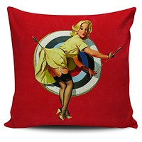 """Pinup Girl 18"""" Pillow Covers"""