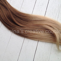 """Ombre Tape Hair Extensions//Victoria Secret Model//Medium Blonde Light Blonde Hair Extensions//(40) Pieces, 18""""//Ready To Ship"""