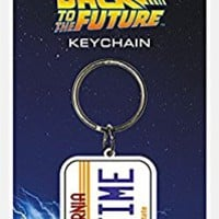Pyramid International Back To The Future License Plate Rubber Keychain,