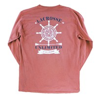 Long Sleeve Red Compass Shirt | Lacrosse Unlimited
