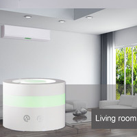 Ultrasonic Aroma Diffuser 100ml Air Humidifier LED Night Light Cylinder-Shaped Essential Oil Adjustable Mist Steam Maker Fogger Touch Switch Color Changing Home Office Children's Room Use US Plug