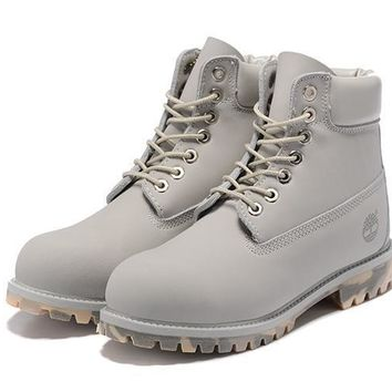 Timberland 10061 anti-fatigue outdoor classic high boots to help light gray - camouflage at the end