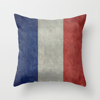 National Flag of France - Vintage Version Throw Pillow by LonestarDesigns2020 - Flags Designs +