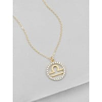 Sparkle Zodiac Necklace - Gold