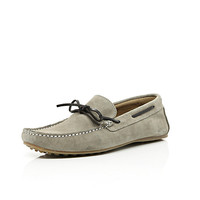 River Island MensStone color block boat shoes