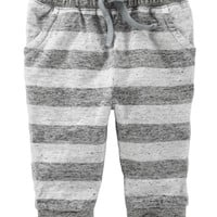 Pull-On Striped Pants