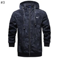 NIKE autumn new hooded high quality men's windproof jacket #3