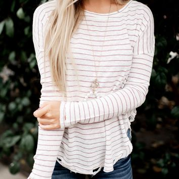 Read Between The Lines Striped Top