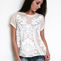 Awesome Artistry Top in Nude