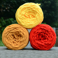 DIY Soft Knitting Chunky Towelling Wool Ball Skein Scarf Yarn Pure Color Cute 100g 80465