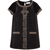 Versace Girls Black Studded Dress