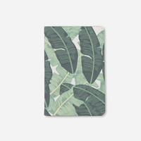 Personalized passport holder tropical leaves leather passport cover passport wallet travel accessories passport case by wanderlustcover shop