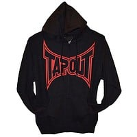 Tapout - Classic Red Logo Mens Zip-Up Hoodie