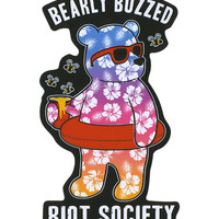Riot Society Bearly Buzzed Sticker Multi One Size For Men 27535695701