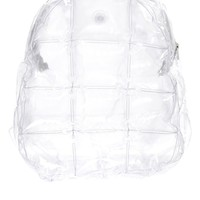 Isolated Heroes Blow Up Bubble Backpack in Clear