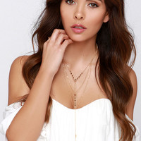 Tiers of Joy Gold Layered Necklace