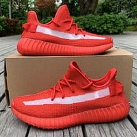 Bunchsun Adidas yeezy 350v2 Fashion New Women Men Sports Leisure Running Shoes Red