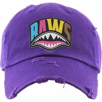 CRAZY SHARK MOUTH Baws Purple Dad Hat