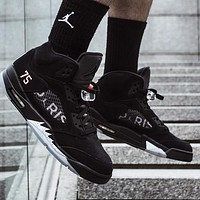 Air Jordan 5 Popular Men Casual Sport Running Basketball Shoes Sneakers Black
