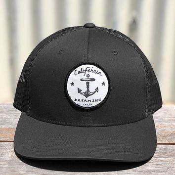 Black Anchor Trucker hat