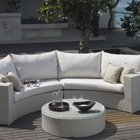 2016 Hot sale cheap white small wicker outdoor indoor furniture