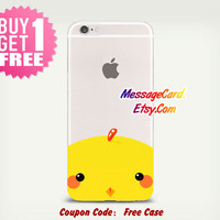 Cute Duck Clear Phone Case for iPhone 6 6s plus 6 6s 5s 5 4s 4 , Ctystal Clear iPhone 6 6s Case , Custom Clear iPhone 6 6s Case