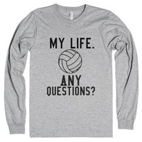 Volleyball is My Life-Unisex Heather Grey T-Shirt