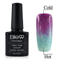 Chameleon Temperature Changing Colour Nail Lacquers Soak Off UV LED Gel Polish Festival Fuchsia - Air Blue
