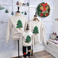 Children winter sweater family - Christmas tree ornaments