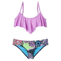 Target : Junior's 2-Piece Bikini Swimsuit -Lilac/Floral Print : Image Zoom