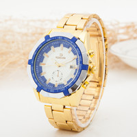 Awesome Stylish New Arrival Gift Designer's Great Deal Trendy Good Price Luxury Men Stainless Steel Gold Quartz Watch (With Thanksgiving&Christmas Gift Box)[6543692035]