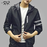 New Arrival Men Jacket Brand Clothing Fashion Mens Spring Jackets Slim Fit Thin Hooded Outerwear Coat For Male jaqueta masculina