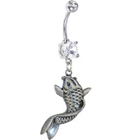 Crystalline Double Gem KOI FISH Belly Ring | Body Candy Body Jewelry