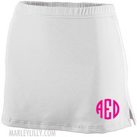 Monogrammed Athletic Tennis and Golf Skirt Skorts Shorts | Marley Lilly