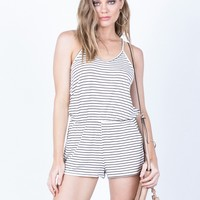 All Striped Up Romper