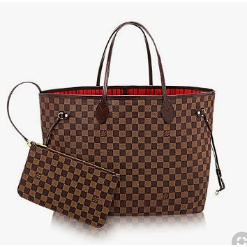 LV Louis Vuitton Popular Women Leather Handbag Bag Shoulder Bag Cosmetic Bag Two Piece Set I/A