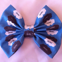 The Fault In Our Stars Inspired Large Fabric Hair Bow, John Green, TFIOS, Hazel Grace, Augustus Waters, Okay, Nerdfighter, Nerdfighteria