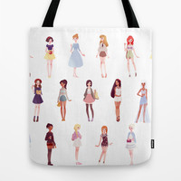 casual princesses - group Tote Bag by Punziella