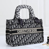 Christian Dior embroidered letters women shopping handbag