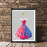 Disney's Aurora Poster/Print - minimalist sleeping beauty aurora poster art decor