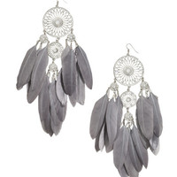 H&M Large Earrings with Feathers $10