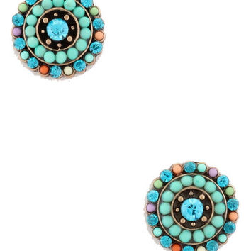 Nature Walk Studs in Turquoise
