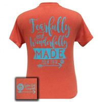 Girlie Girl I Am Fearfully and Wonderfully Made Arrow T Shirt