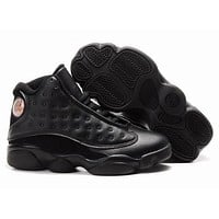 Nike Kids Air Jordan 13 Retro Black Sneaker Shoe Us 11c - 3y