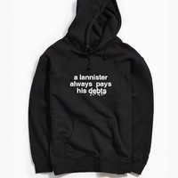 Game of Thrones A Lannister Always Pays His Debts Hoodie